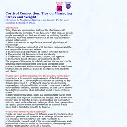 Stress Cortisol Connection