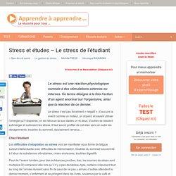 Stress et études - Le stress de l'étudiant