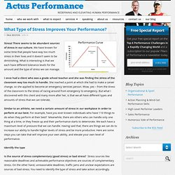 What Type of Stress Improves Your Performance? — Actus Performance