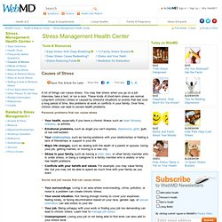 Stress Management-Causes of Stress