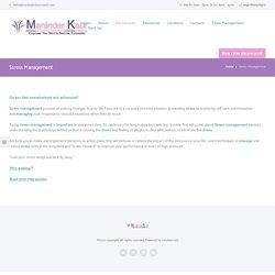 Stress Management – Maninder Kaur