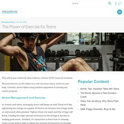 Stress Mangement for Teens: The Power of Exercise