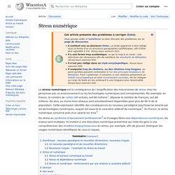 Stress numérique