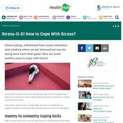 Stress-O-S! How to Cope With Stress?
