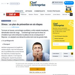 Stress : un plan de prévention en six étapes