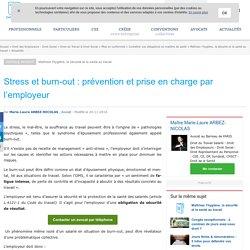 Stress et burn-out : prévention et prise en charge par l'employeur