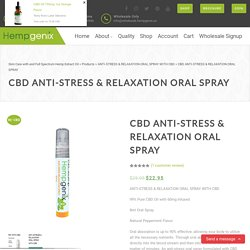 ANTI-STRESS & RELAXATION ORAL SPRAY WITH 99% Pure and 60mg Infused