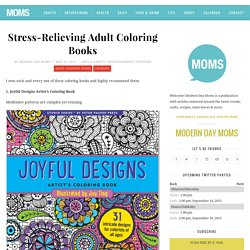 Stress-Relieving Adult Coloring Books
