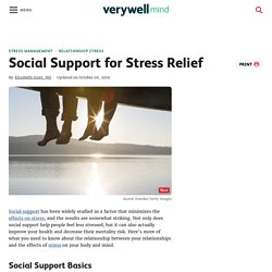 Stress and Social Support Research