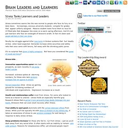 Stress Tanks Learners and Leaders