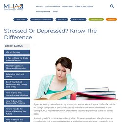 Stressed or Depressed? Know the Difference