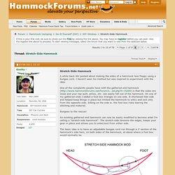 Stretch-Side Hammock