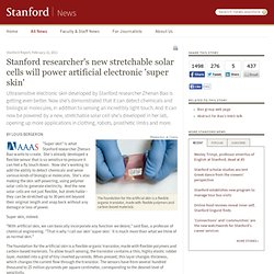 New stretchable solar cells will power artificial electronic 'super skin'