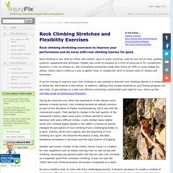 Rock Climbing Stretching Exercises