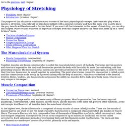 STRETCHING AND FLEXIBILITY - Physiology of Stretching