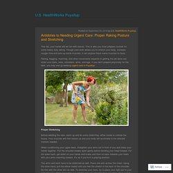 Antidotes to Needing Urgent Care: Proper Raking Posture and Stretching