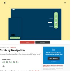 Stretchy Navigation in CSS and jQuery