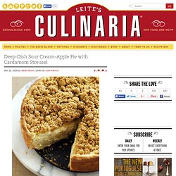 Deep-Dish Sour Cream–Apple Pie with Lemon Streusel Recipe