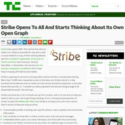 Stribe Opens To All And Starts Thinking About Its Own Open Graph