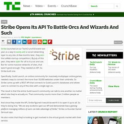 Stribe Opens Its API To Battle Orcs And Wizards And Such