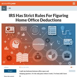 IRS Has Strict Rules For Figuring Home Office Deductions