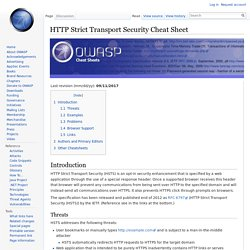 HTTP Strict Transport Security Cheat Sheet