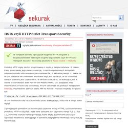 HSTS czyli HTTP Strict Transport Security