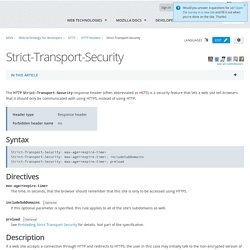 Strict-Transport-Security - HTTP