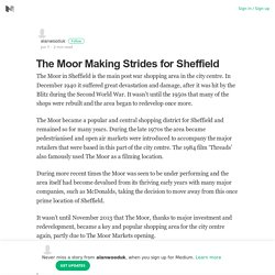 The Moor Making Strides for Sheffield