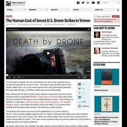 The Human Cost of Secret U.S. Drone Strikes in Yemen