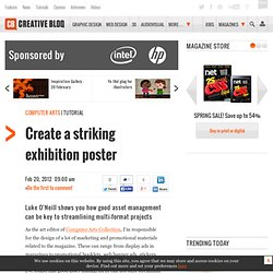 Create a striking exhibition poster
