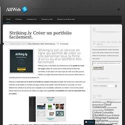 Striking.ly Créer un portfolio facilement.