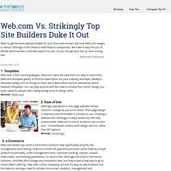Web.com Vs. Strikingly Top Site Builders Duke It Out