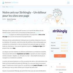 Avis Strikingly : la solution la plus simple pour les sites one page ?