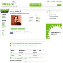 August Strindberg frågesport - vetgirig.nu