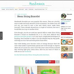 How to Make Neon String Bracelet