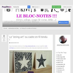 "Le ""string art"" ou cadre en fil tendu ! - stephaniebricole Blog"