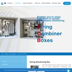String Combiner Boxes: String Monitoring Box & Monitoring Device In India