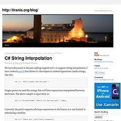 C# String Interpolation