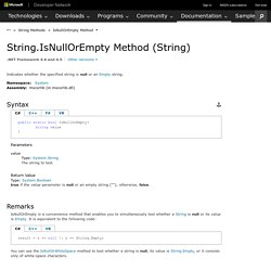 String.IsNullOrEmpty Method (String) (System)