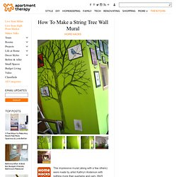 How To Make a String Tree Wall Mural Home Hacks