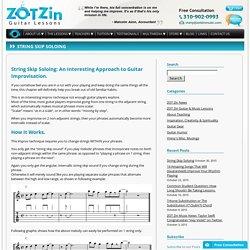 String Skip Soloing