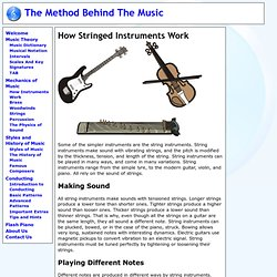 How Stringed Instruments Work - The Method Behind the Music