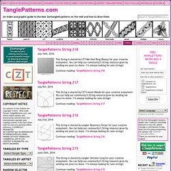 Strings TanglePatterns [TanglePattern.com] Dernier : 219