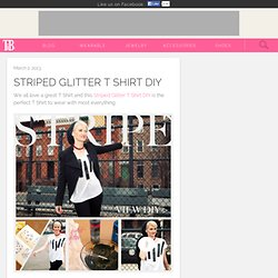 Striped Glitter T Shirt DIY