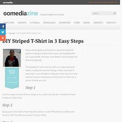 DIY Striped T-Shirt in 3 Easy Steps
