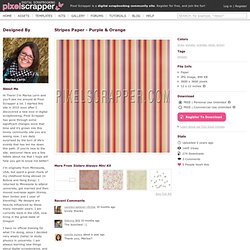 Stripes 44 Digital Scrapbooking Free Download - gray green orange pink purple paper image commercial use