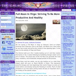 Full Moon In Virgo: Striving To Be More Productive And Healthy