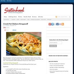 Crockpot Chicken Stroganoff - Shrinking Jeans