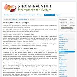 Strominventur - Stromverbrauch beim Elektrogrill